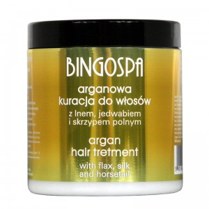 BingoSpa Argan Hair Treatment with Linseed, Silk and Horsetail